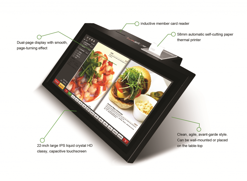 YumKiosk Self-Ordering and Payment Device